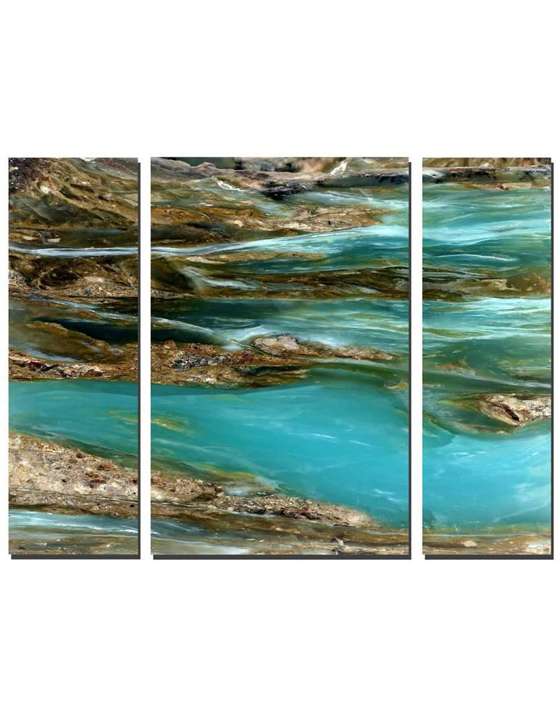 Mike Woodward Photography Peruvian Blue Opal Triptych 152x101cm