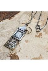 """Miki Tanaka """"Locking Locket"""" Bronze, Oxidized SS Necklace 62cm"""