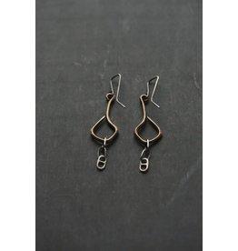 "Miki Tanaka ""Precious Memory"" Bronze, Oxidized SS Earrings"