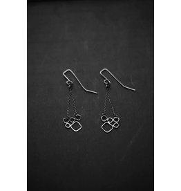 """Miki Tanaka """"Balance"""" Oxidized SS Earrings"""