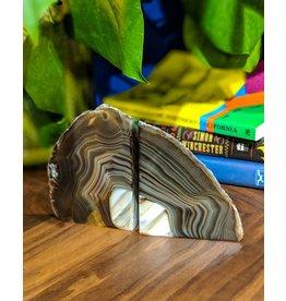 Juno Rare & Fine Agate Bookend Pair 19x13x6cm 1.55kg Brazil