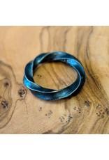 Bora Jewelry Twist Oxidized Silver Ring 5