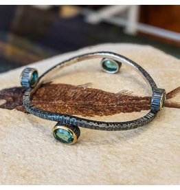 Bora Jewelry Blue Quartz Bangle
