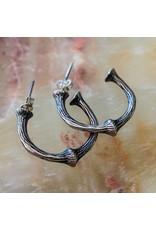 Bora Jewelry Two-Thirds Hoop Earrings