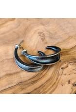 Bora Jewelry Oxidized Silver Earrings