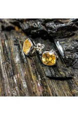 Sanchi and Filia P Designs Citrine Stud Earrings 8mm