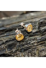 Sanchi and Filia P Designs Citrine Stud Earrings 7mm