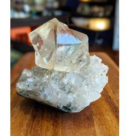 Ravinder Singh Calcite Apophyllite Stilbite Chalcedony 118x110x108mm India