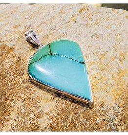 Tibetan Turquoise SS Pendant