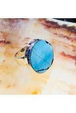 Sterling Creations Tibetan Turquoise SS Ring 9
