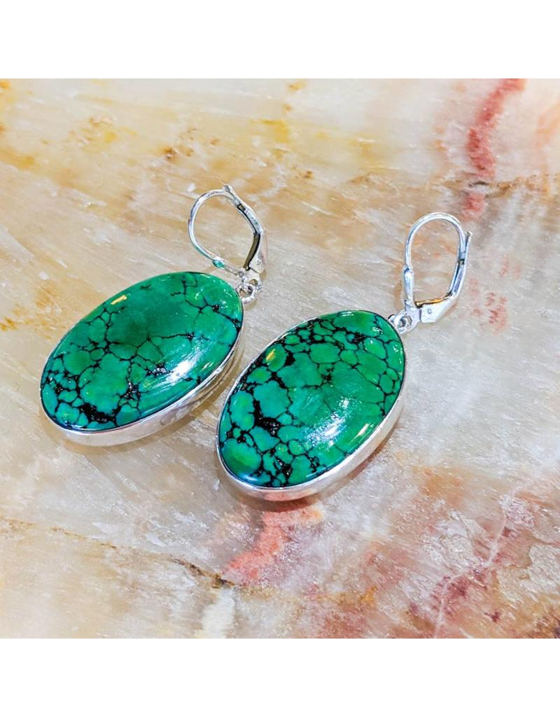Tibetan Turquoise Ss Earrings