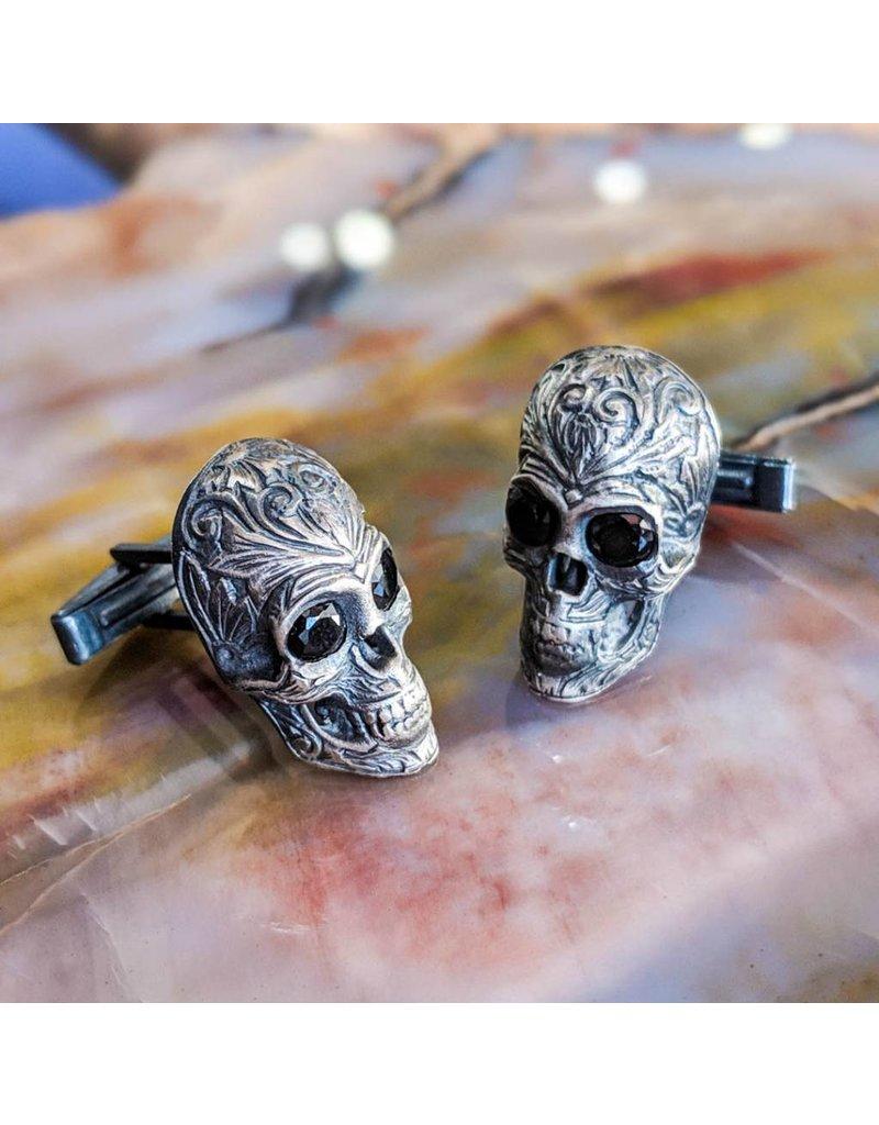 Bora Jewelry Onyx Skull Cufflinks