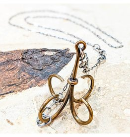 "Miki Tanaka ""Deep Under"" Bronze, Oxidized SS Necklace 675mm"