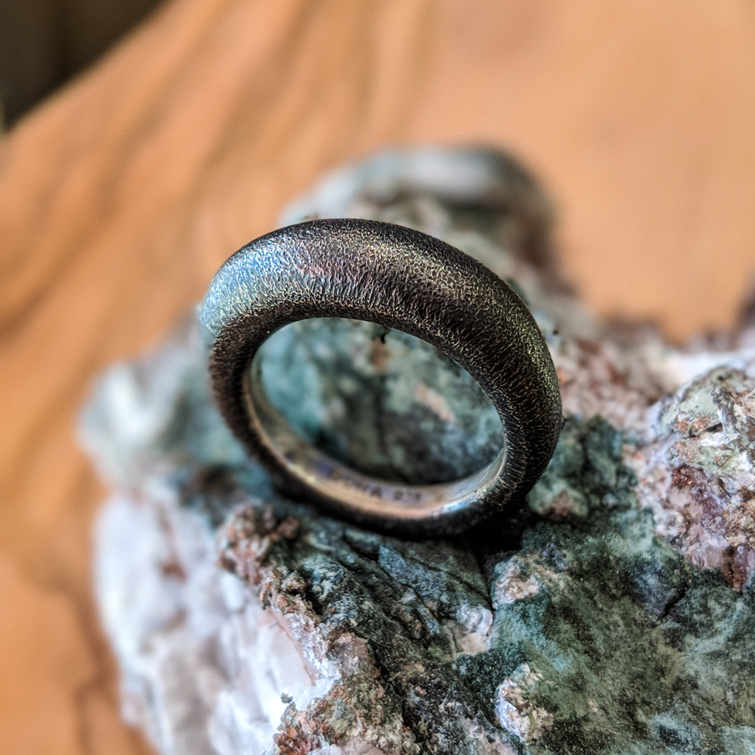 Bora Oxidized Sterling Silver Ring
