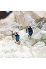 Sanchi and Filia P Designs London Blue Topaz Stud Earrings 8x4mm