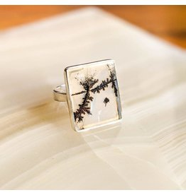 Dendritic Agate SS Ring 9