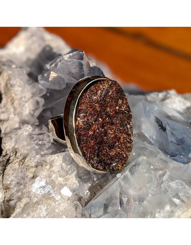 Sterling Creations Astrophyllite Ring 9