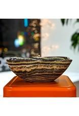 Zebra Onyx Bowl 29x20x11cm Mexico