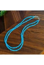 Sanchi and Filia P Designs Larimar Bead Necklace