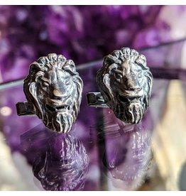 Bora Jewelry Lion Oxidized SS Cufflinks