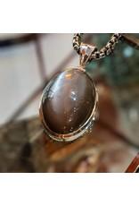 Sterling Creations Gray Moonstone Pendant
