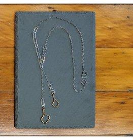 """Miki Tanaka """"Wait For Me"""" Bronze, Oxidized SS Necklace 51cm"""