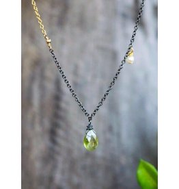 Ambica New York Peridot Pearl Necklace 50cm