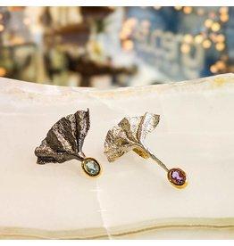 German Kabirski Amethyst Blue Topaz Earrings