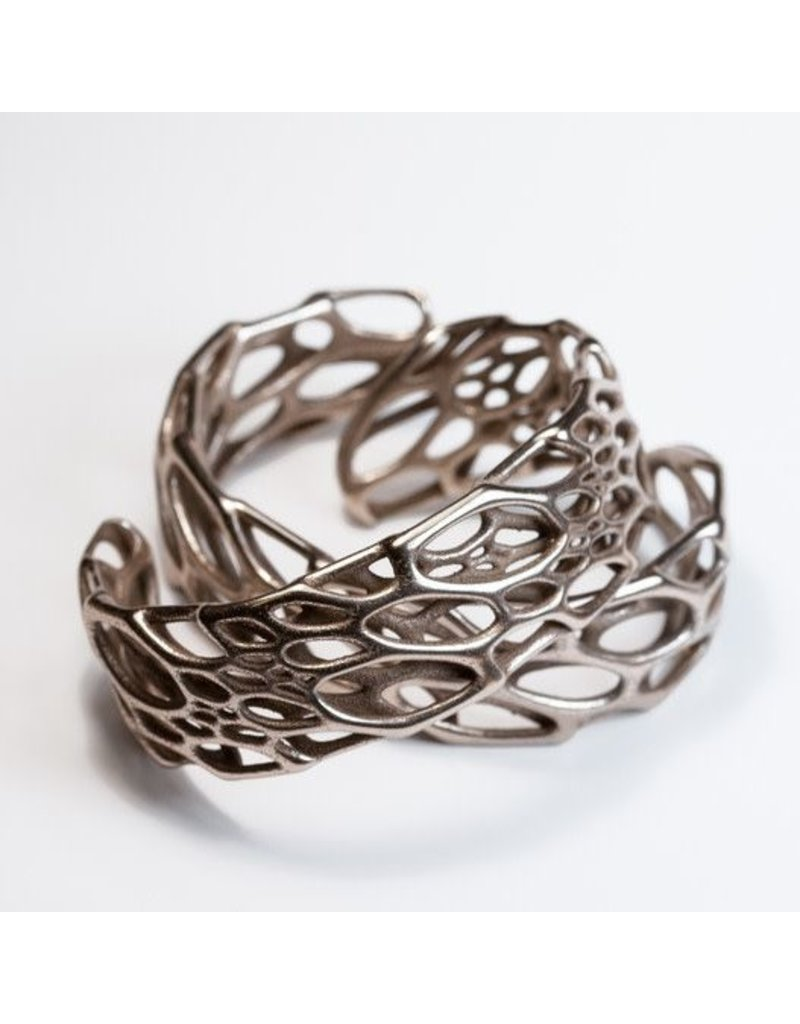 Nervous System Cell Cycle Bone Stainless Steel Cuff Bracelet