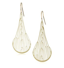 Nervous System Xylem Dichotomous 24K GP Stainless Steel Earrings