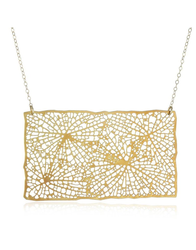 Nervous System Xylem Cluster 24K GP Stainless Steel Pendant with GF Chain