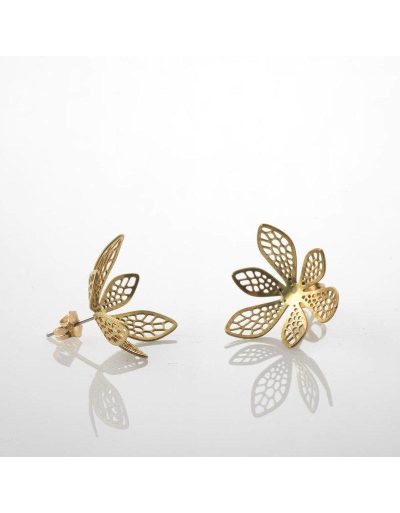 Nervous System Corollaria Corolla Brass Earrings