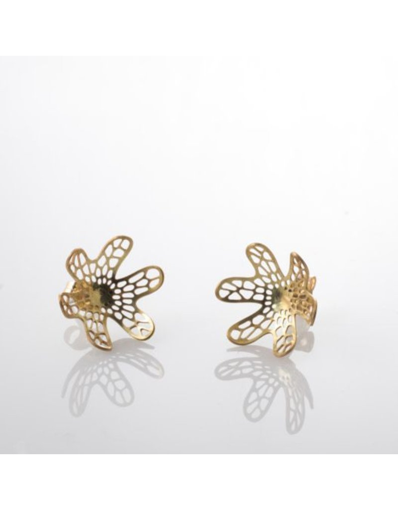 Nervous System Corollaria Plankton Brass Earrings