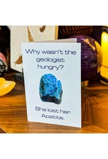 Igneous Theory Apatite Greeting Card