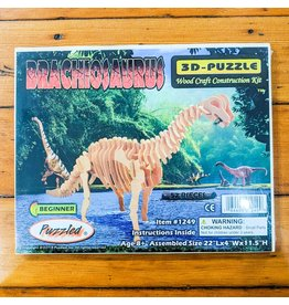 Brachiosaurus Wood Skeleton Puzzle 56x30x10cm