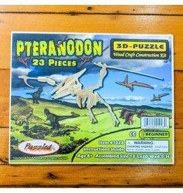 Pteranodon Wood Skeleton Puzzle 50x33x17cm