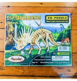 Styracosaurus Wood Skeleton Puzzle 30x15x13cm