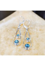 Teardrop Semi-precious SS Earrings