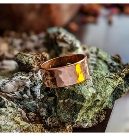 MMA International Hammered Solid Copper Ring 8mm