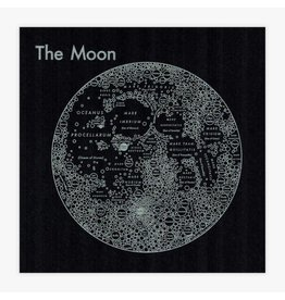 Archie's Press The Moon Silver on Black Print