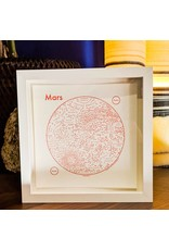 Archie's Press Mars Red on White Print