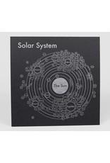 Archie's Press Solar System Silver on Black Print