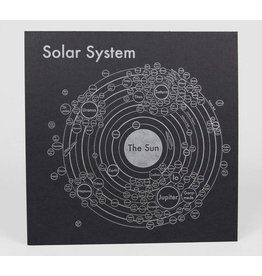 Archie's Press Solar System Silver on Black Print