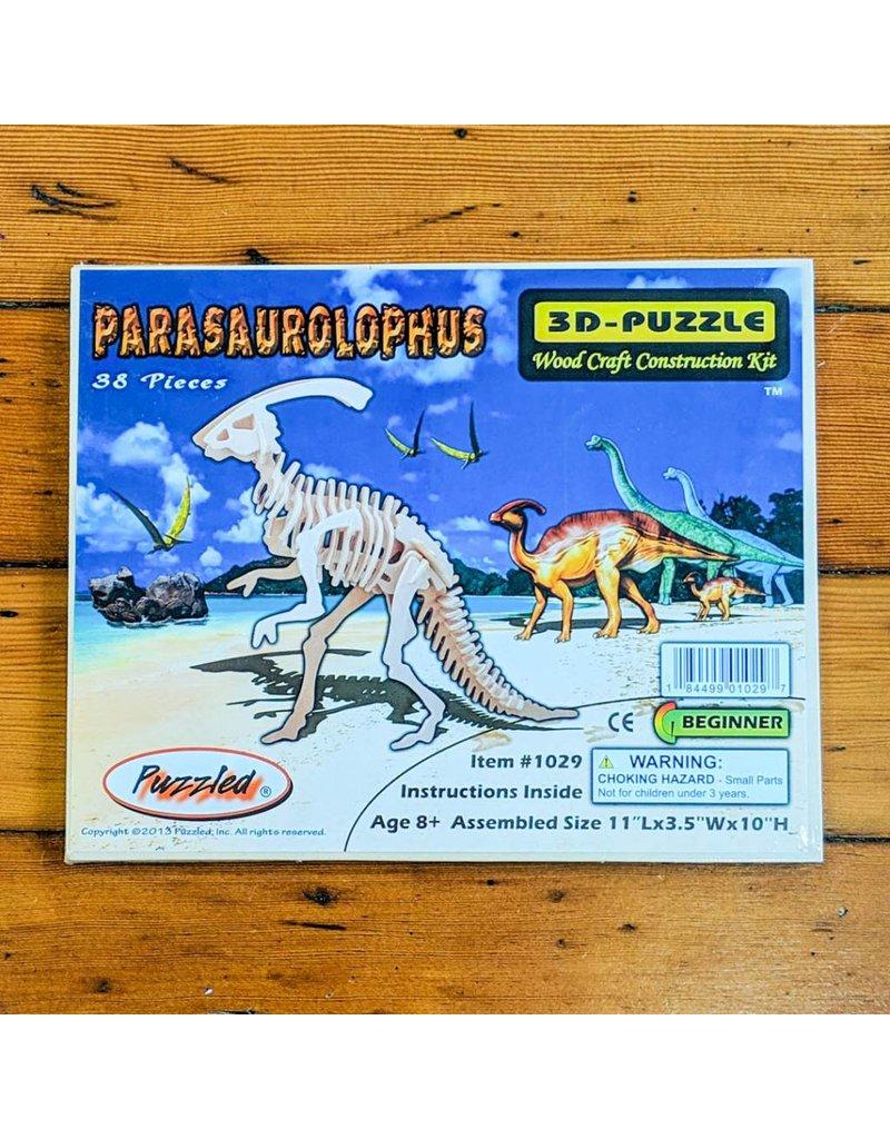 Parasaurolophus Wood Skeleton Puzzle 28x25x9cm
