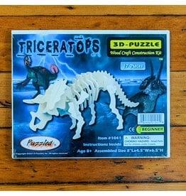Triceratops Wood Skeleton Puzzle 20x15x11cm