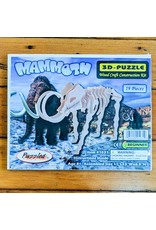 Woolly Mammoth Wood Skeleton Puzzle 28x17x8cm