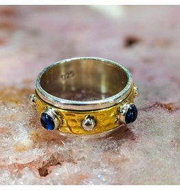 Kyanite Brass Spinner Ring 9