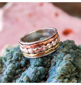 Copper Silver Brass Spinner Ring