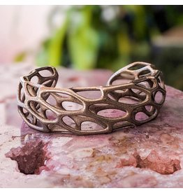 Nervous System Cell Cycle Porous Stainless Steel Cuff Bracelet