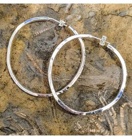 "Balaam Design ""Twisted"" Hammered Hoop Earrings"
